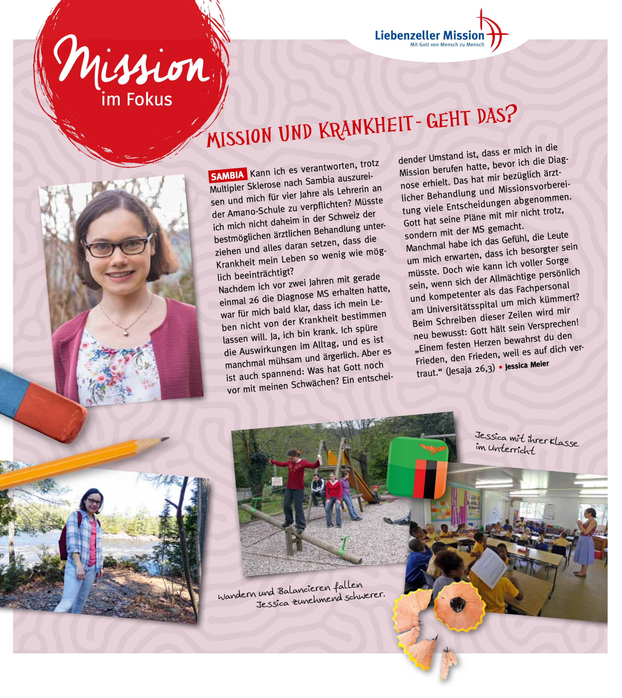 Meine Mission ein Artikel von Jessica