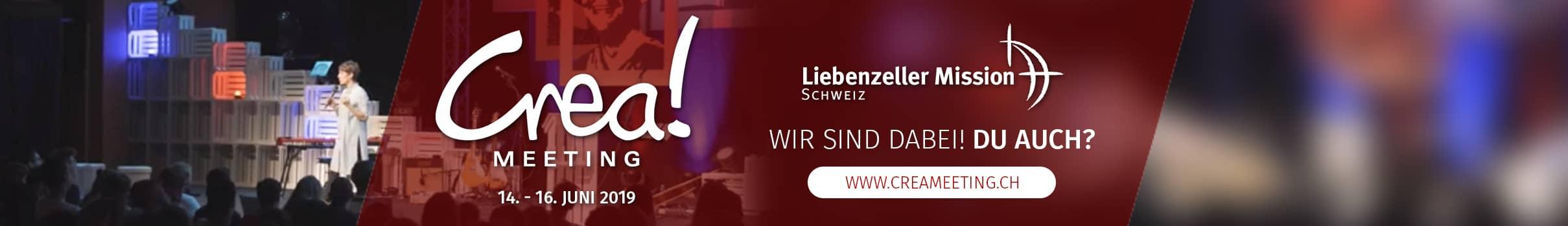 Sehen wir uns bei CREA 2019? www.creameeting.ch